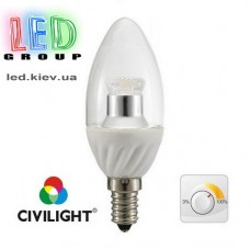 Лампа CIVILIGHT E14 DC37 WP25T4 ceramic clear dimmable (4222)