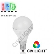 Лампа CIVILIGHT E14 P45 K2F40T6 metal (7217)
