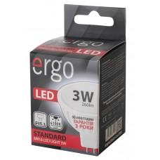 LED лампа ERGO Standard MR16 GU5.3 3W 220V 4100K Нейтральный белый