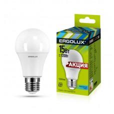 Светодиодная лампа, ERGOLUX, 15W, E27, 4000K - нейтральный свет