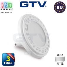 Светодиодная LED лампа GTV, 12W, AR111/ES111, 120°, 3000К – тёплое свечение, белый. ПОЛЬША!!!