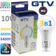 Светодиодная LED лампа GTV, 10W, E27, 3в1, 3000К + 4000К + 6400К. ПОЛЬША!!! Гарантия - 3 года