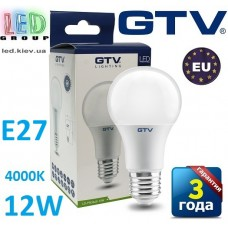 Светодиодная LED лампа GTV, 12W, E27, 4000К – нейтральное свечение. ПОЛЬША!!! Гарантия - 3 года