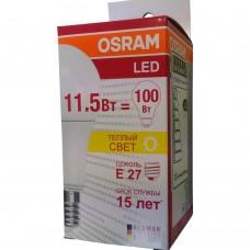 Светодиодная лампа E27 OSRAM 11.5W 2700K, тёплого свечения