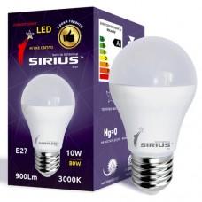 LED лампа Сириус ЭКО 10W 3000К А60 E27 (1-LS-2101)