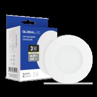 Панель (мини) GLOBAL LED SPN 3W мягкий свет (3шт. в уп) (3-SPN-001)