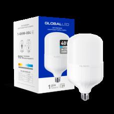 Светодиодная лампа GLOBAL, 40W, E27, HW, 6500K - холодный свет  (1-GHW-004)