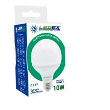 Cветодиодная лампа LEDEX 10W E27 40000К (GLOBE)