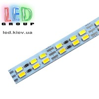 Светодиодная LED линейка, алюминиевая плата, 5730-144-CW+WW, 6500K/3500K, 12V, IP20, холодный белый/теплый белый