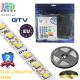 Светодиодная лента GTV, 12V, SMD 2835, 120 led/m, 9.6W, IP65, 550Lm, 3200K - белый тёплый, Premium. Гарантия - 24