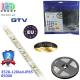 Светодиодная лента GTV, 12V, 3528, 120 led/m, 9.6W, IP65, 550Lm, 6500K - белый холодный, Premium. Гарантия - 24 месяца.