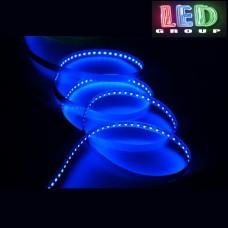 Светодиодная лента 12V, SMD 2835, 120 led/m, 9.6W, IP20, синий, Standart. Гарантия - 12 месяцев.