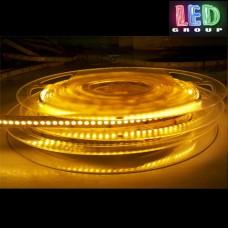 Светодиодная лента 12V, 2835, 120 led/m, IP20, жёлтый, Standart. Гарантия - 12 месяцев.