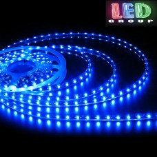 Светодиодная лента 12V, 2835, 60 led/m, 4.8W, IP65, синий, Standart. Гарантия - 12 месяцев.