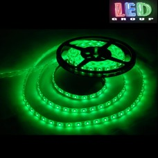 Светодиодная лента 12V, 2835, 60 led/m, IP65, зелёный, Standart. Гарантия - 12 месяцев.