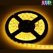Светодиодная лента 12V, 5050, 60 led/m, IP65, жёлтый, Standart. Гарантия - 12 месяцев.