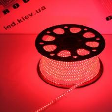 Светодиодная лента 220V, 2835, 120 led/m, 8W, IP67, красный, Standart. Гарантия - 12 месяцев