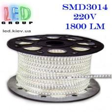 Светодиодная лента SMD 3014 LED S3014-120NW-IP67-220V