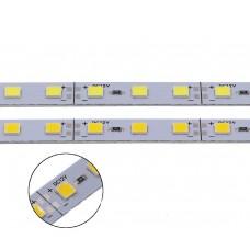 Светодиодная алюминиевая линейка 12V, 5054, 72 led/m, 16W, IP20, 6500K - белый холодный. Гарантия - 12 месяцев.