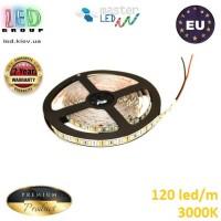 Светодиодная лента master LED, 12V, SMD 2835, 120 led/m, IP20, 1080Lm, 3000К - белый тёплый, Premium. Гарантия - 2 года