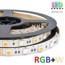Светодиодная лента 12V, 5050, 60 led/m, 14.4W, IP20, RGB+W (RGB+Белый 6500К), Standart. Гарантия - 12 месяцев.