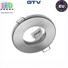 Потолочный светильник/корпус, GTV, встраиваемый, метал, IP20, круглый, серебристый, 1xMR16, MAREA. ЕВРОПА!