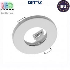 Светильник/корпус GTV, потолочный, встраиваемый, метал, IP20, круглый, белый, MAREA. ПОЛЬША!!!