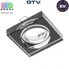 Светильник/корпус GTV, потолочный, встраиваемый, стекло, IP20, квадрат, чёрный, PALACE. ПОЛЬША!!!