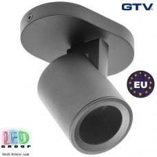 Светильник/корпус GTV, потолочный, регулируемый, алюминий, IP20, круглый, одинарный, чёрный, BLINK. ПОЛЬША!!!