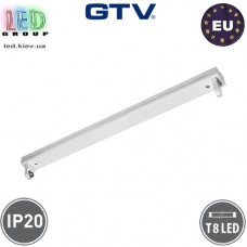 Корпус GTV для ламп Т8, 1х900мм, IP20, накладной, открытый, одностороннее подключение, OSL, белый. ПОЛЬША!!!