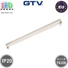 Корпус GTV для ламп Т8, 1х1200мм, IP20, накладной, открытый, одностороннее подключение, OSL, белый. ПОЛЬША!!!