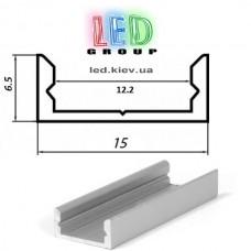 Алюминиевый профиль для светодиодной ленты, ЛП-7 (2 метра) Standart