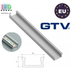 Профиль алюминиевый GTV для светодиодной ленты, Glax mini - 2 метра. Польша!!!