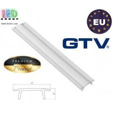 Рассеиватель GTV для алюминиевого профиля, прозрачный - 2 метра. ПРЕМИУМ. ЕВРОПА!!! (для профиля серии GTV GLAX, ЛП, ЛПС, ЛПВ, ЛПУ)