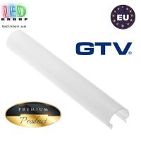 Рассеиватель GTV, КРУГЛЫЙ, для алюминиевого профиля, молочный - 2 метра. ПРЕМИУМ. ЕВРОПА!!! (для профиля серии GTV GLAX mini)