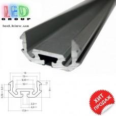 Профиль алюминиевый для светодиодной ленты, Z200 - 2 метра