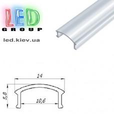 Рассеиватель для алюминиевого профиля, PП-1, прозрачный - 2 метра (для профиля серии ЛП, ЛПС, ЛПВ, ЛПУ)