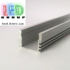 Профиль алюминиевый для светодиодной ленты, Z207 - 2 метра