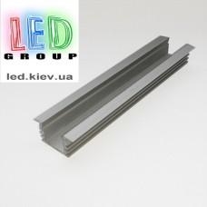 Профиль алюминиевый для светодиодной ленты, врезной, Z207-P