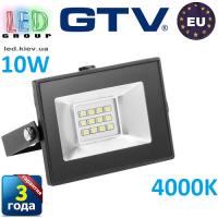Светодиодный LED прожектор, GTV, 10W, IP65, 4000K, G-TECH. ПОЛЬША!!! Гарантия – 3 года