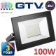 Светодиодный LED прожектор, GTV, 100W, IP65, 6400K, FLUXO. ПОЛЬША!!! Гарантия – 3 года