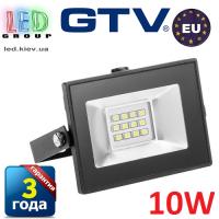 Светодиодный LED прожектор, GTV, 10W, IP65, 6400K, FLUXO. ПОЛЬША!!! Гарантия – 3 года