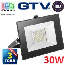 Светодиодный LED прожектор, GTV, 30W, IP65, 6400K, FLUXO. ПОЛЬША!!! Гарантия – 3 года
