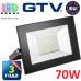 Светодиодный LED прожектор, GTV, 70W, IP65, 6400K, FLUXO. ПОЛЬША!!! Гарантия – 3 года