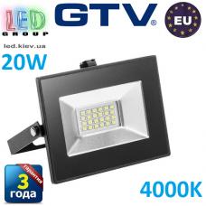 Светодиодный LED прожектор, GTV, 20W, IP65, 4000K, INNOVO. ПОЛЬША!!! Гарантия – 3 года