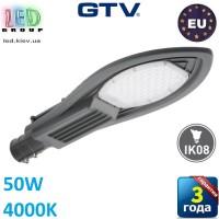 Светодиодный LED светильник, консольный, уличный, GTV, 50W, IP65, 4000K, PARKER II, серый. ЕВРОПА!!! Гарантия 3 года!