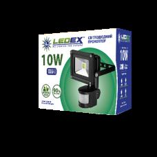 Светодиодный прожектор с датчиком движения LEDEX 10W