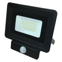 Светодиодный прожектор с датчиком движения 30W, 6400К. Гарантия - 1 год.