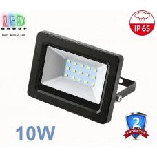 Светодиодный LED прожектор 10W, 800Lm, 6500K. Гарантия - 2 года.