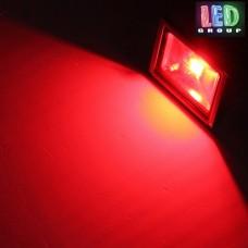 Светодиодный прожектор LED 10Вт  красный